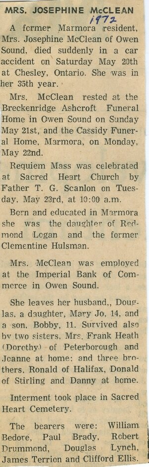 McClean, Josephine Logan