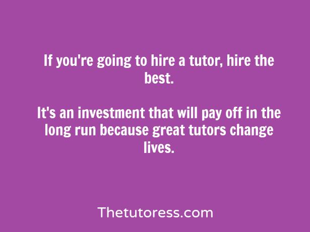 hiring a cheap tutor