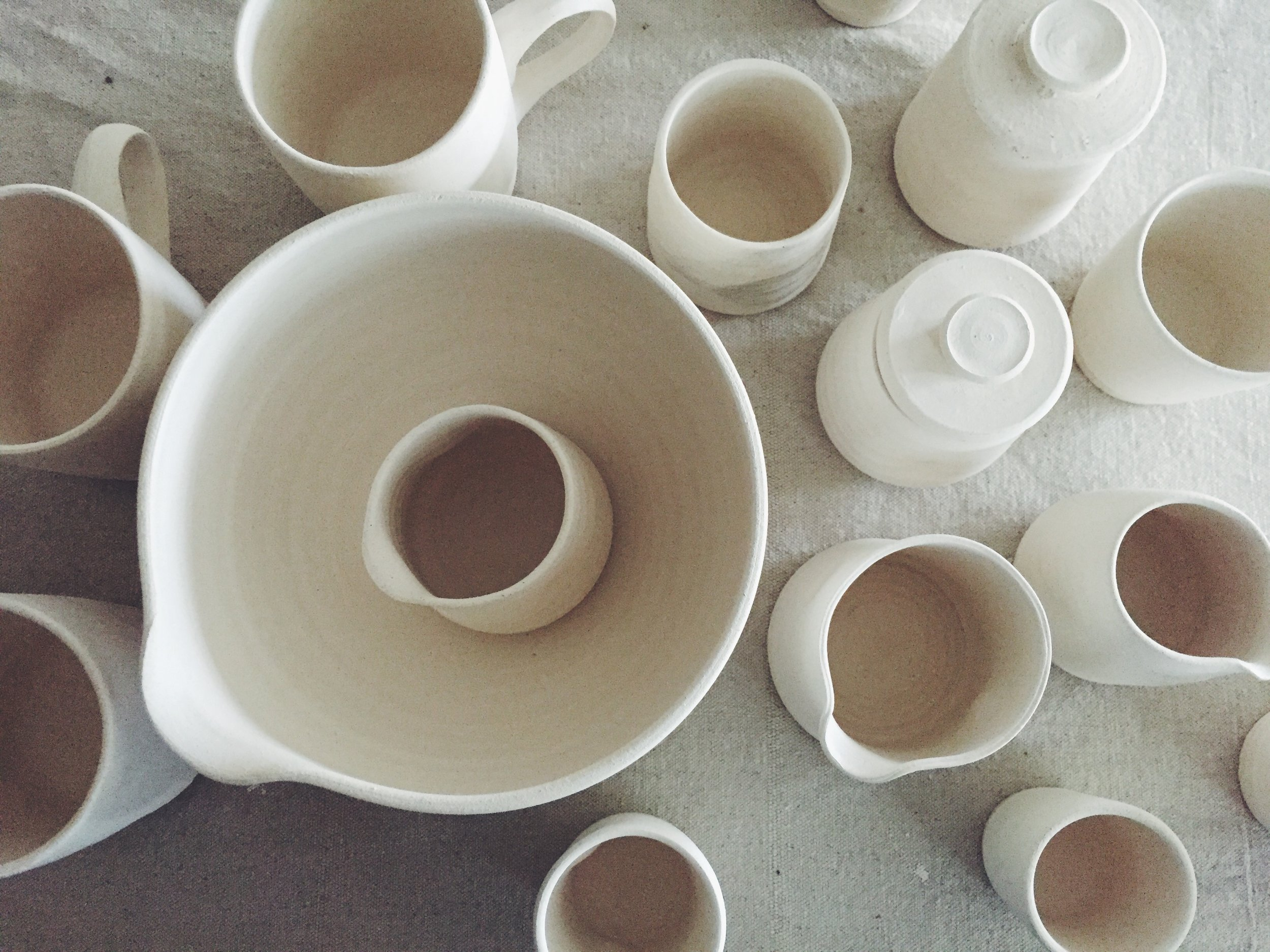 Bisqueware needing glaze