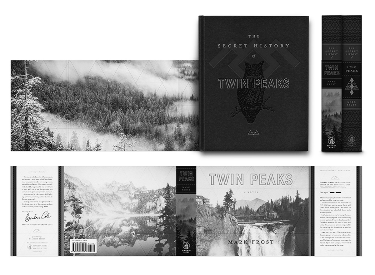 The Secret History of Twin Peaks book layout and wrap design
