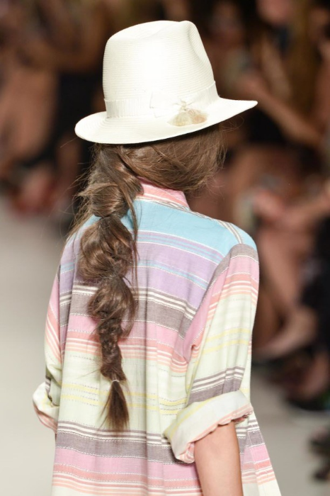 Mara Hoffman's perfectly undone   Desert Braid   from NYFW 2014.