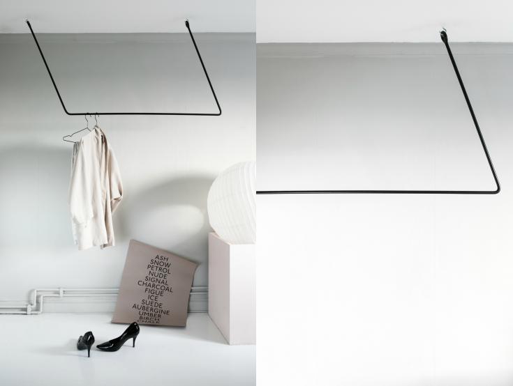 A functionaloblique  clothing rail .