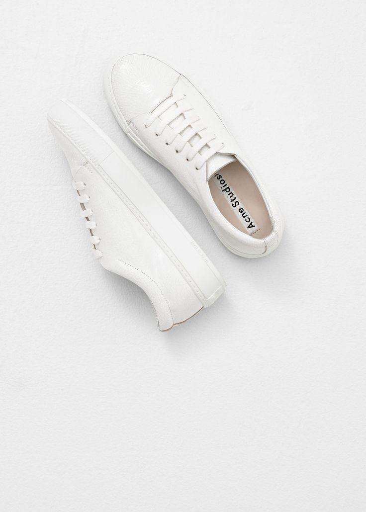 Acne Studios, Adriana Crackled Leather, White, Women's