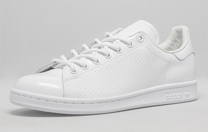 Adidas, Originals Stan Smith Perforated, White-White,Unisex