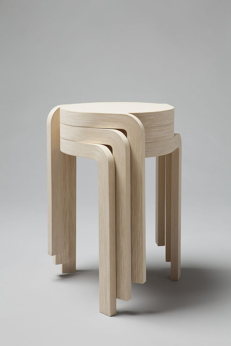 These stackable  Spin Stool 's by Swedish Designer Staffan Holm.