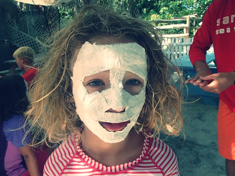 Mask-making at Sanibel Sea School.