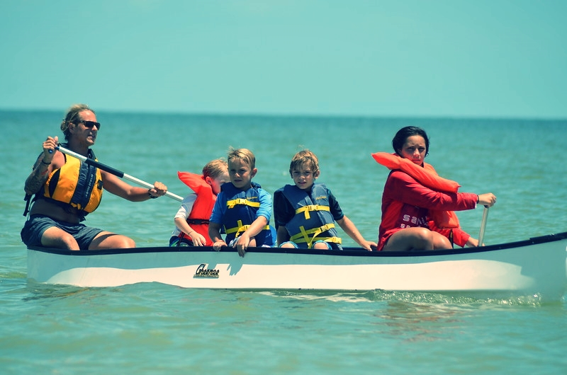 The Real Deal Shark Week campers paddle in search of sharks.