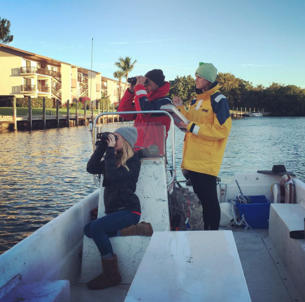 Sanibel Sea School team members counted birds throughout the Sanibel Canals during the 2015 Christmas Bird Count.