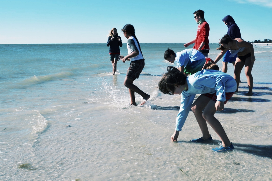 Campers give their worries to the sea during an annual Sanibel Sea School tradition.