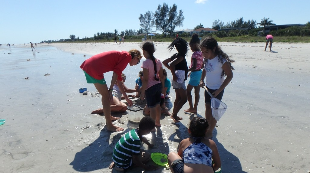Students from the Gladiolus Center for Learning and Development visited Sanibel Sea School for an afternoon of ocean exploration.