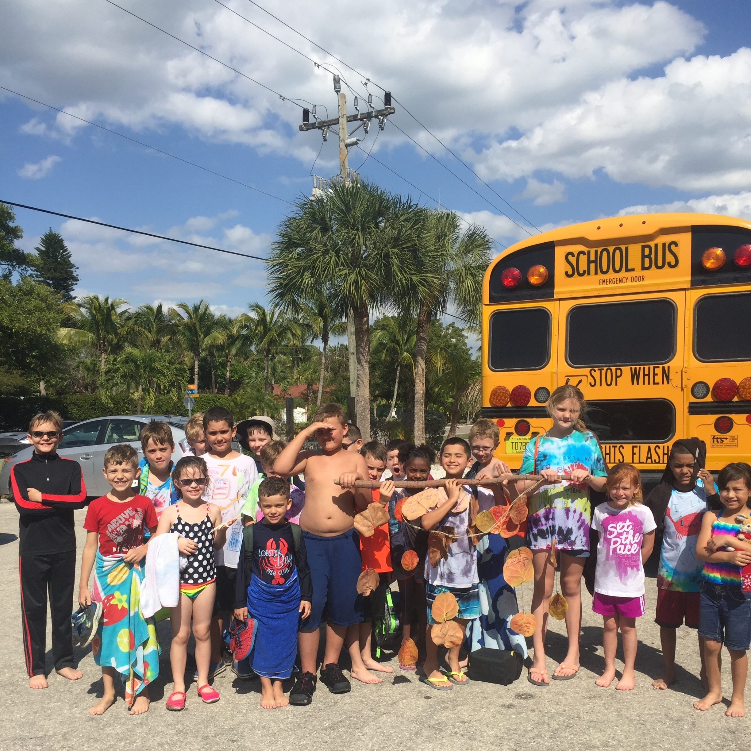 Students from Upthegrove Elementary School in Hendry County spent a day at Sanibel Sea School.