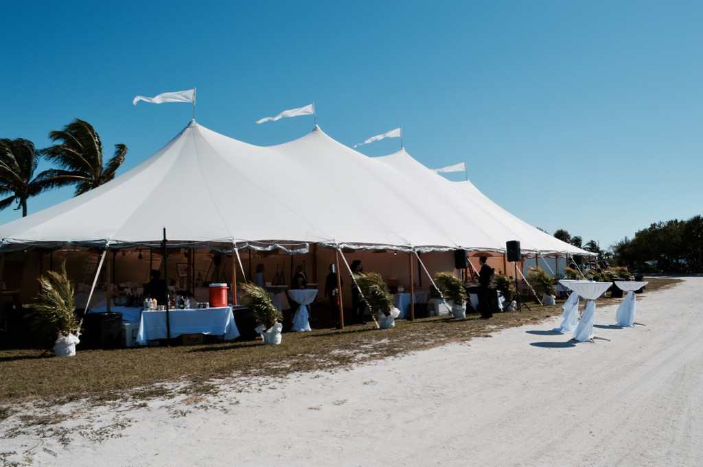 Sanibel Sea School's annual fundraiser, Octifest, is held under a tent on Sanibel's Causeway Island A.