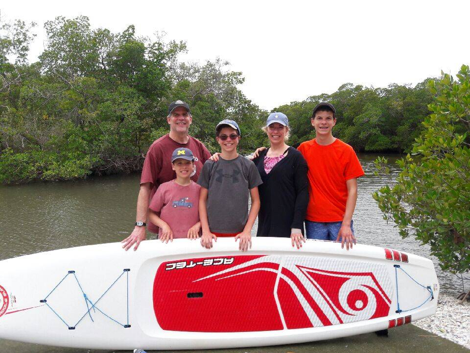 Stand Up Paddleboarding is a great way for families with older children to experience Southwest Florida's marine habitats.