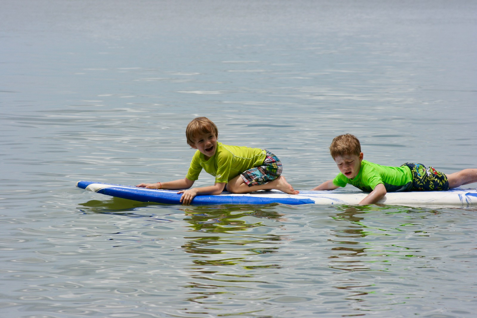 Sometimes our tiniest campers prefer to surf in pairs.