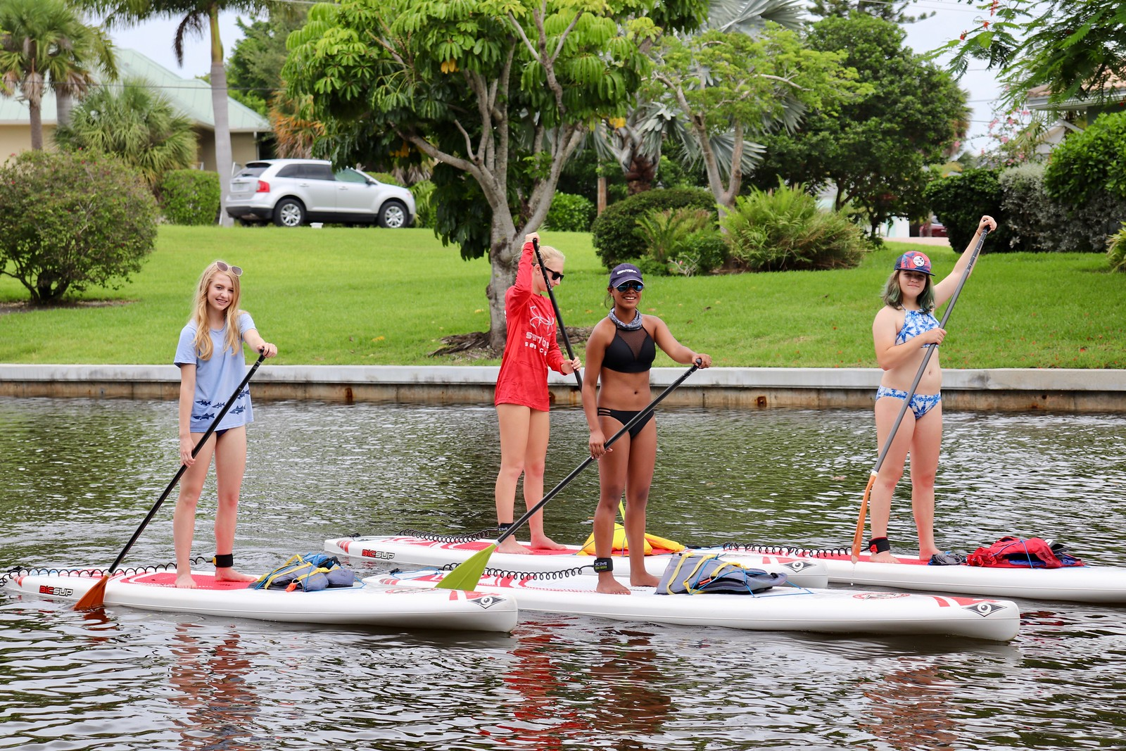 Wahine Toa  campers went for a paddle in the Sanibel canals.