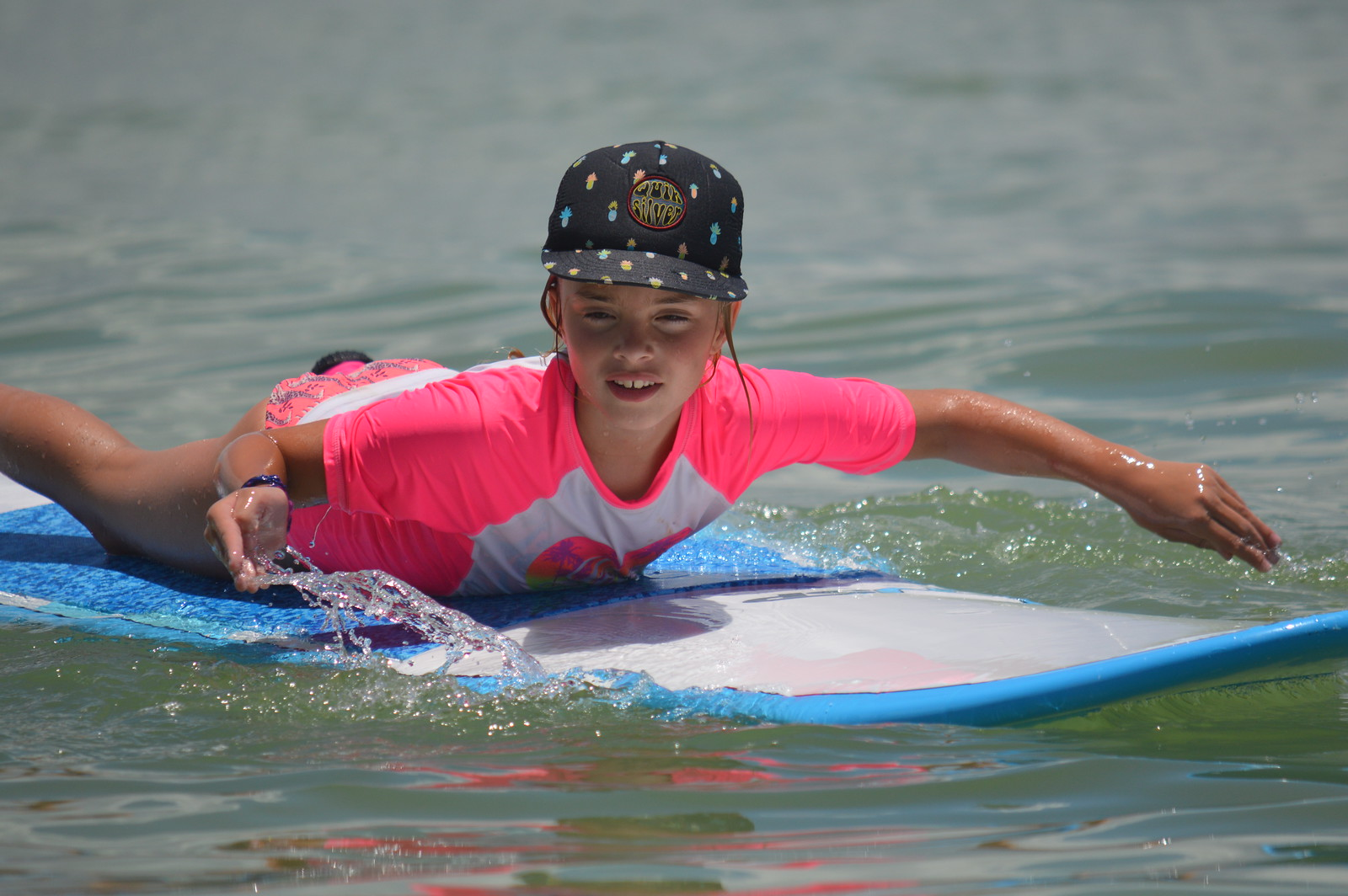 We ended the week with an exciting surf paddling race.