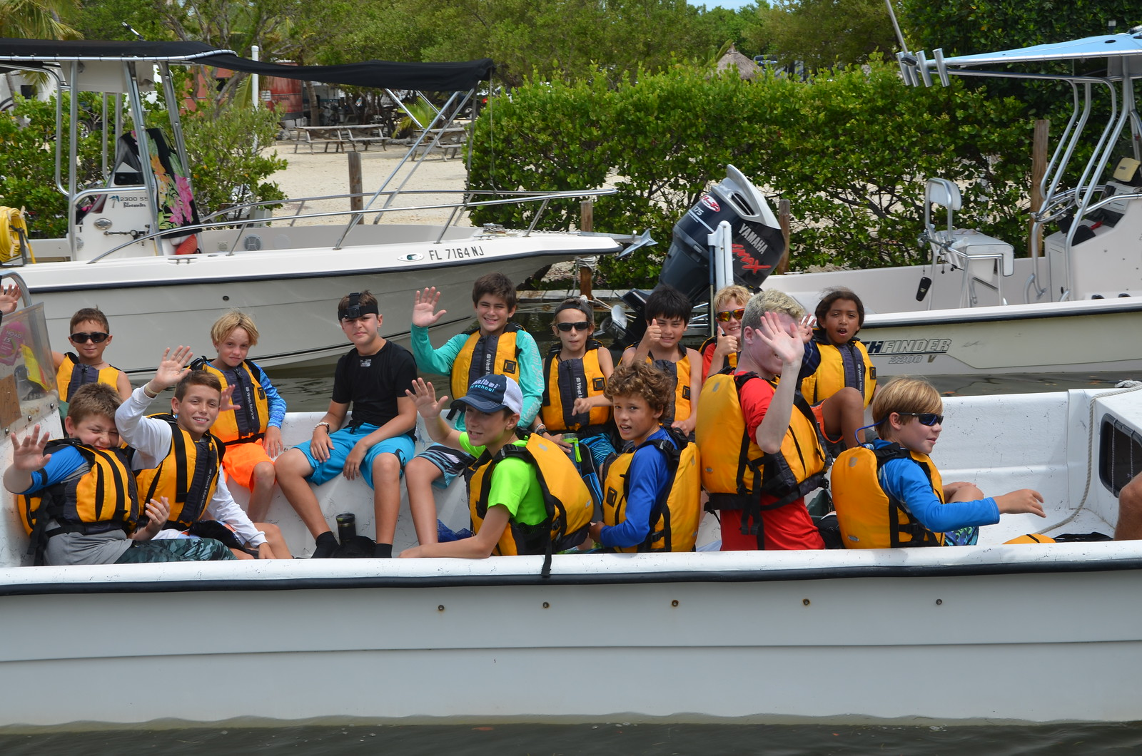 Campers departed the campground for a snorkeling trip to Looe Key Reef.