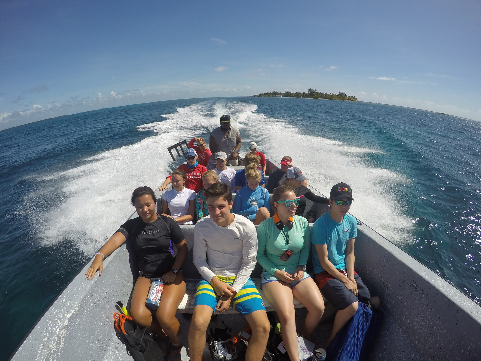 Heading out to the reef for a snorkel.