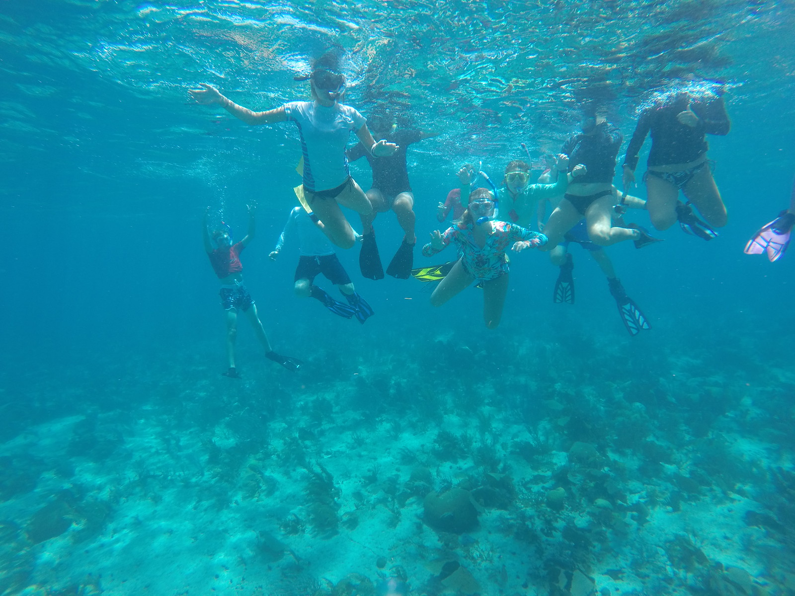 Snorkeling on the Belize Barrier Reef.