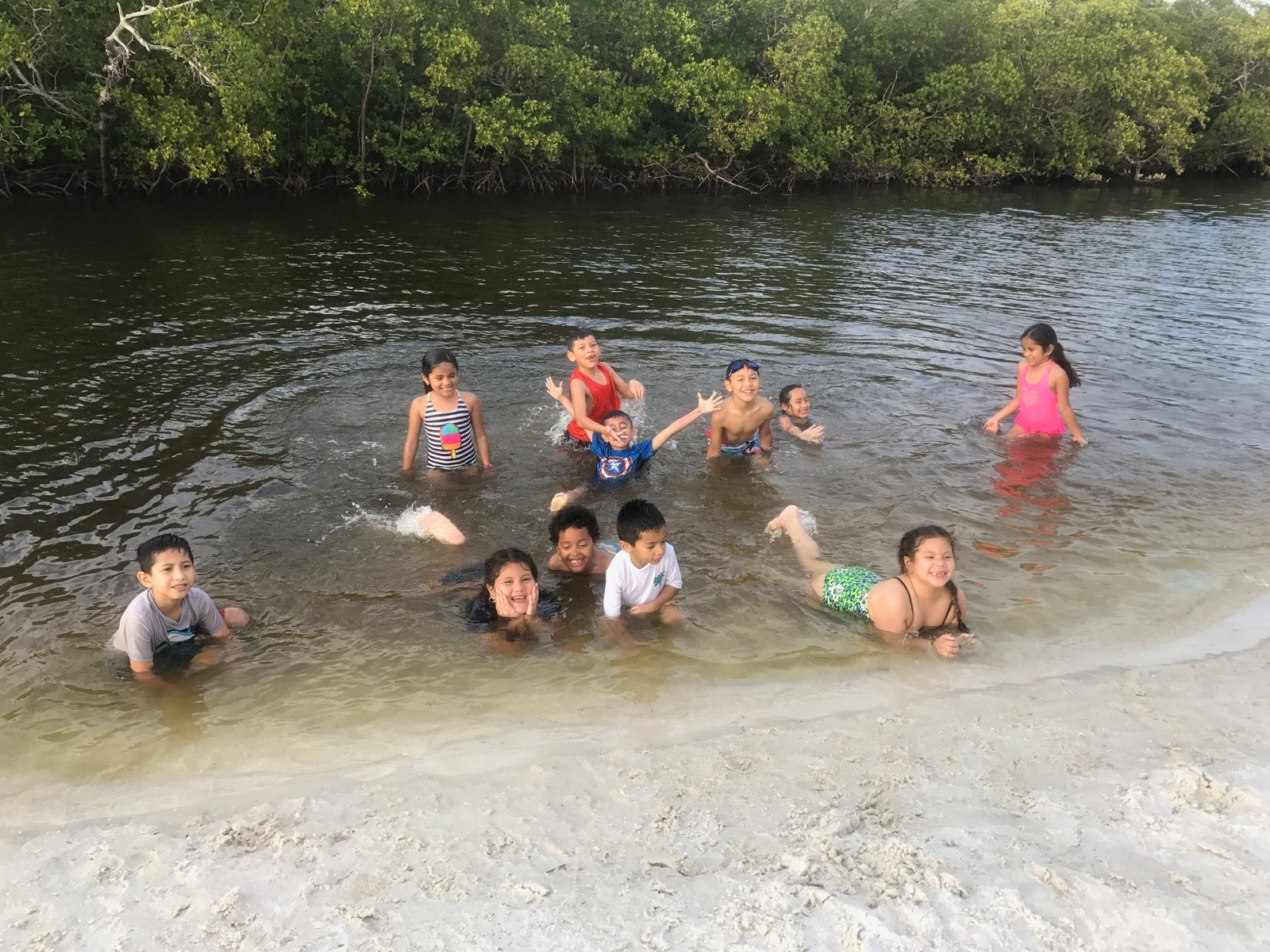 Students from the Heights Foundation enjoyed a scholarship-supported educational outing with Sanibel Sea School.