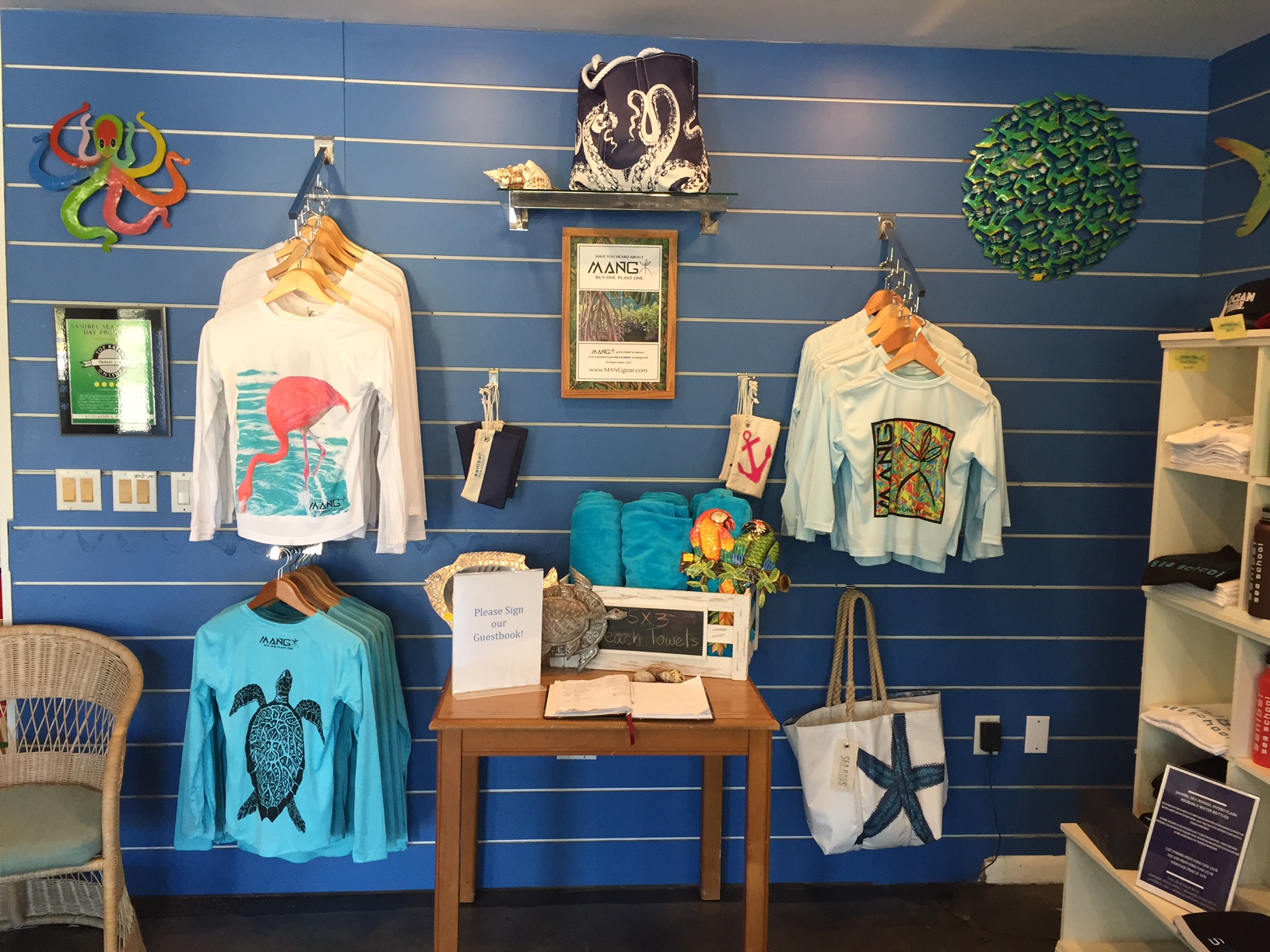 MANG Apparel is now available at Sanibel Sea School.