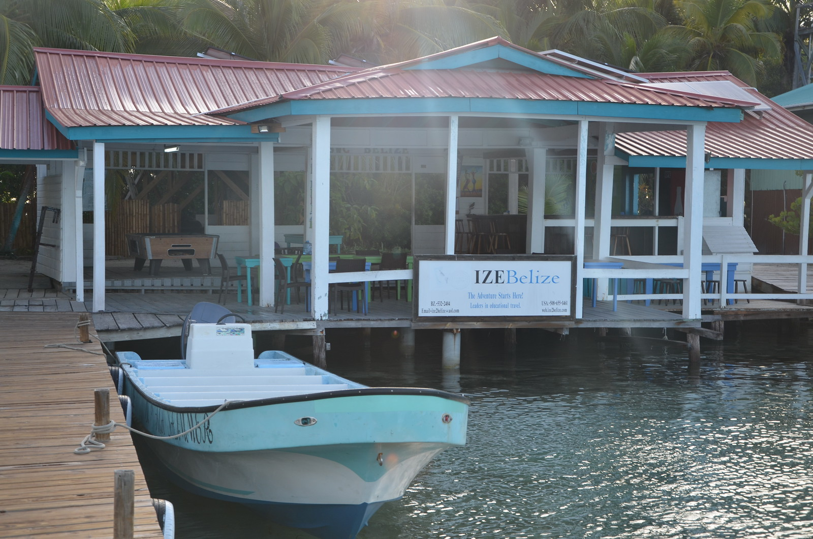 The field station on South Water Caye.