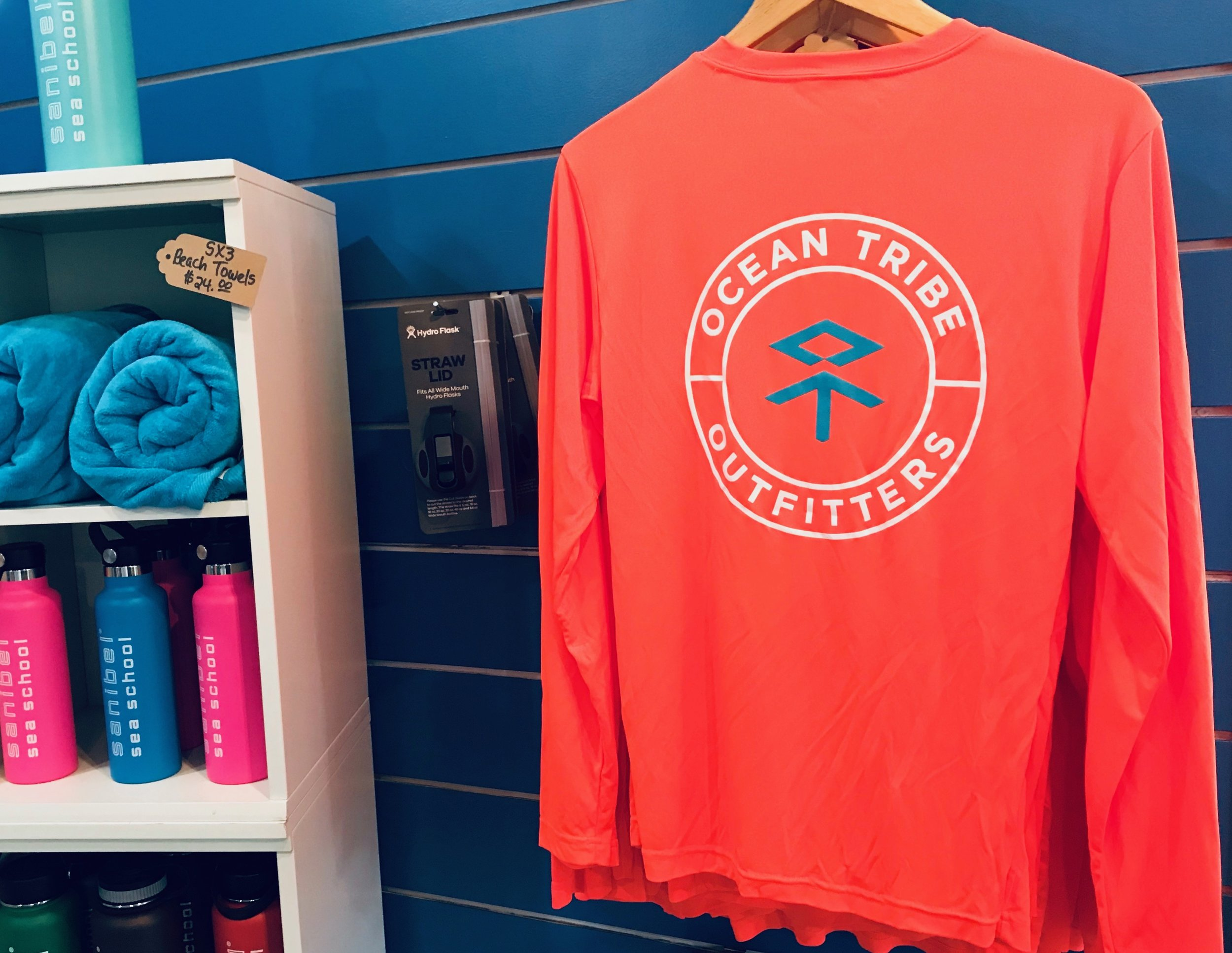 Long sleeve performance shirts are great for summer camp and days on the water.