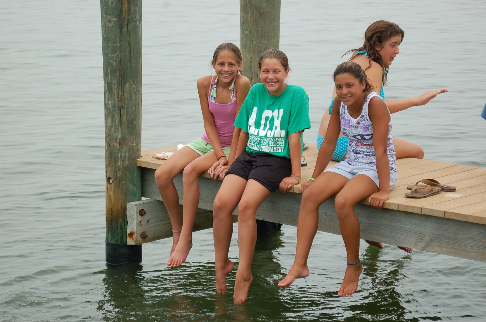 Campers on the dock at Cayo Costa State Park.