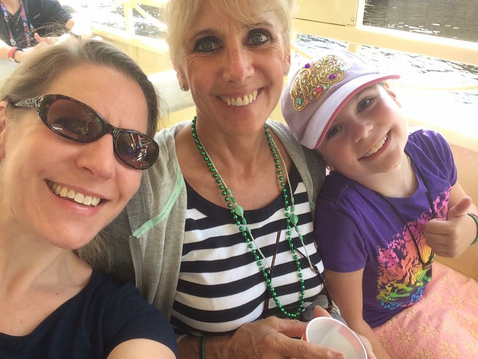 Susan Teel with her daughter, Sara Gordon (left) and granddaughter, Isobel (right).