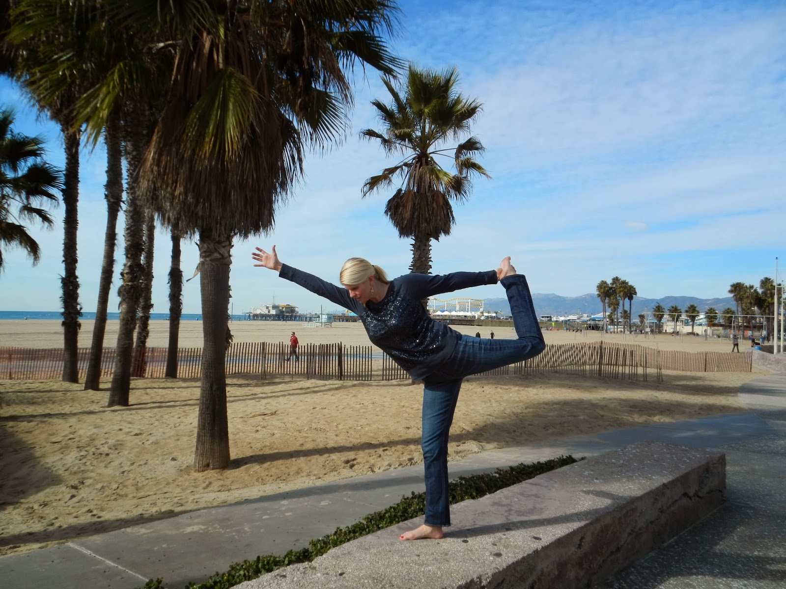 Posing just off the beach just north of the Santa Monica Pier!
