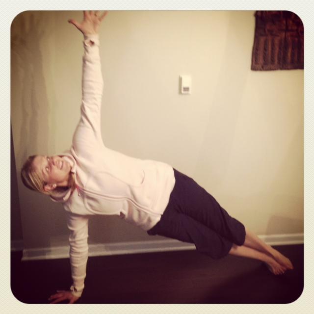 Side plank!