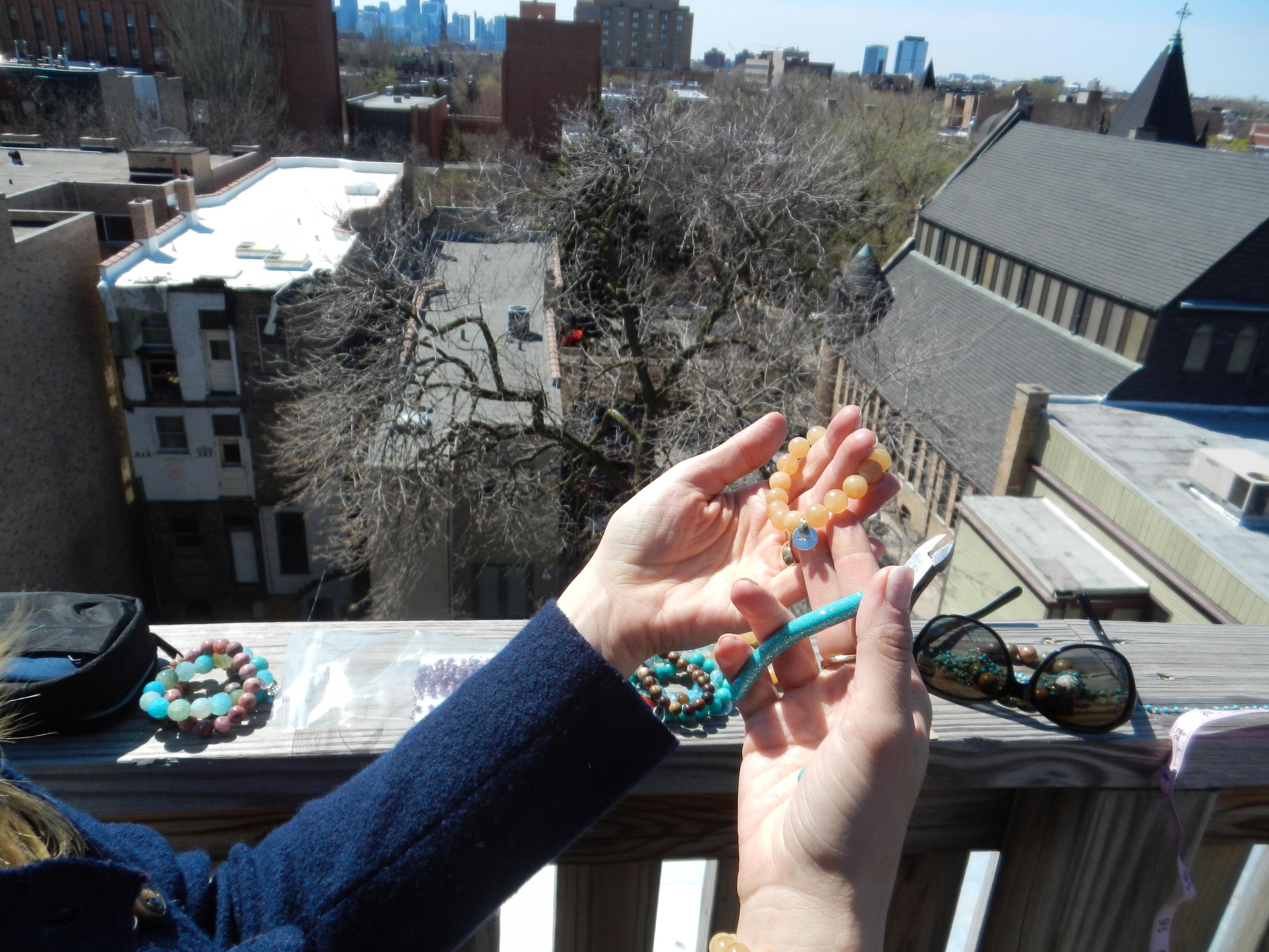 I ended up making 40 bracelets Saturday afternoon!