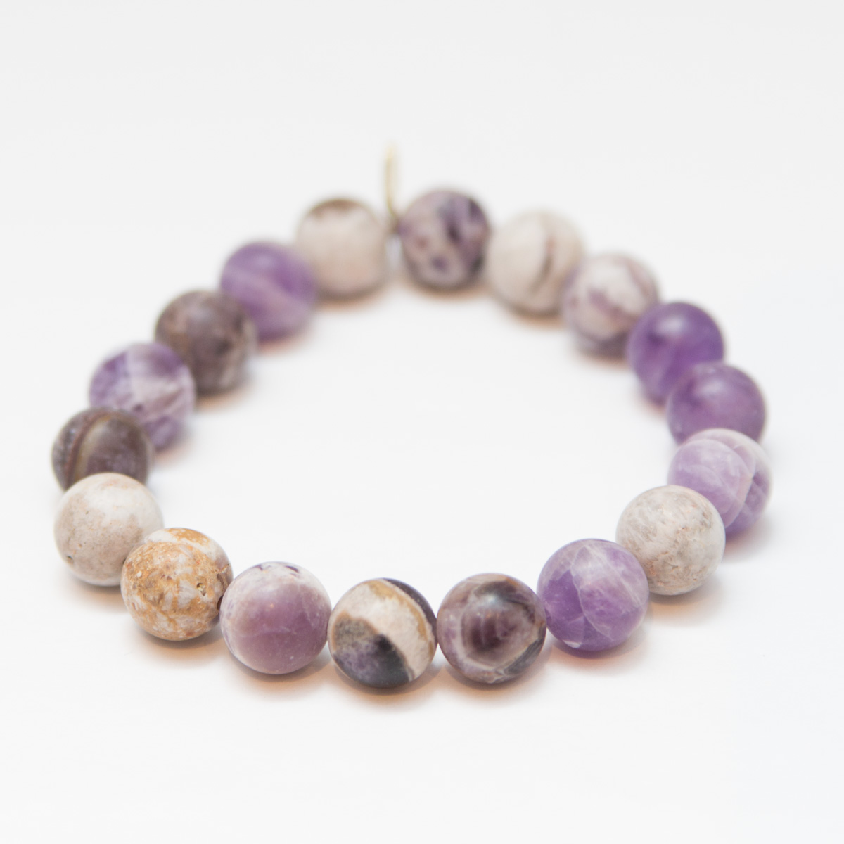 Amethyst - This stone happens to be the one that acts as a natural tranquilizer. It has the ability to strengthen your imagination and intuition which allows your thinking processes to be refined. Because of that any negative energy that you're exposed to instead turns into relief and joy. So perfect for when you're travelling and exposed to so many other people and their energy.