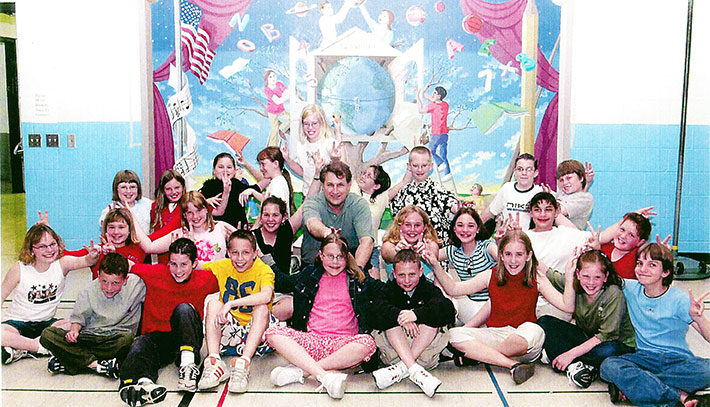Glen & 5th Grade Core Group, Carlinville Unit#1 , May 1, 2002