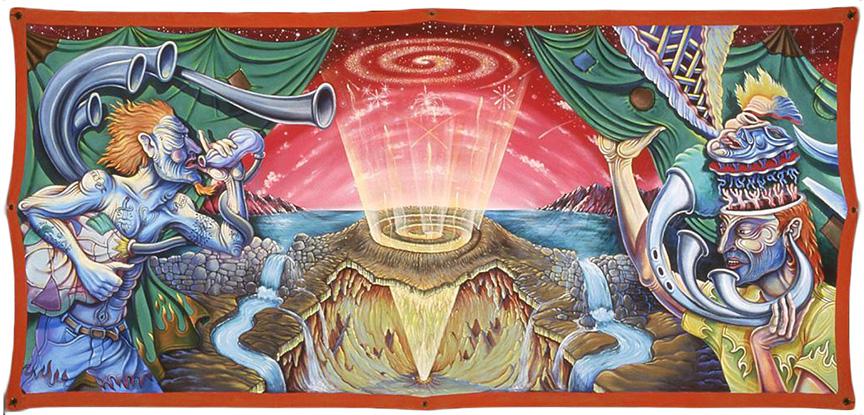 "Revelations,  1998 52""x114"", Acrylic on Canvas"