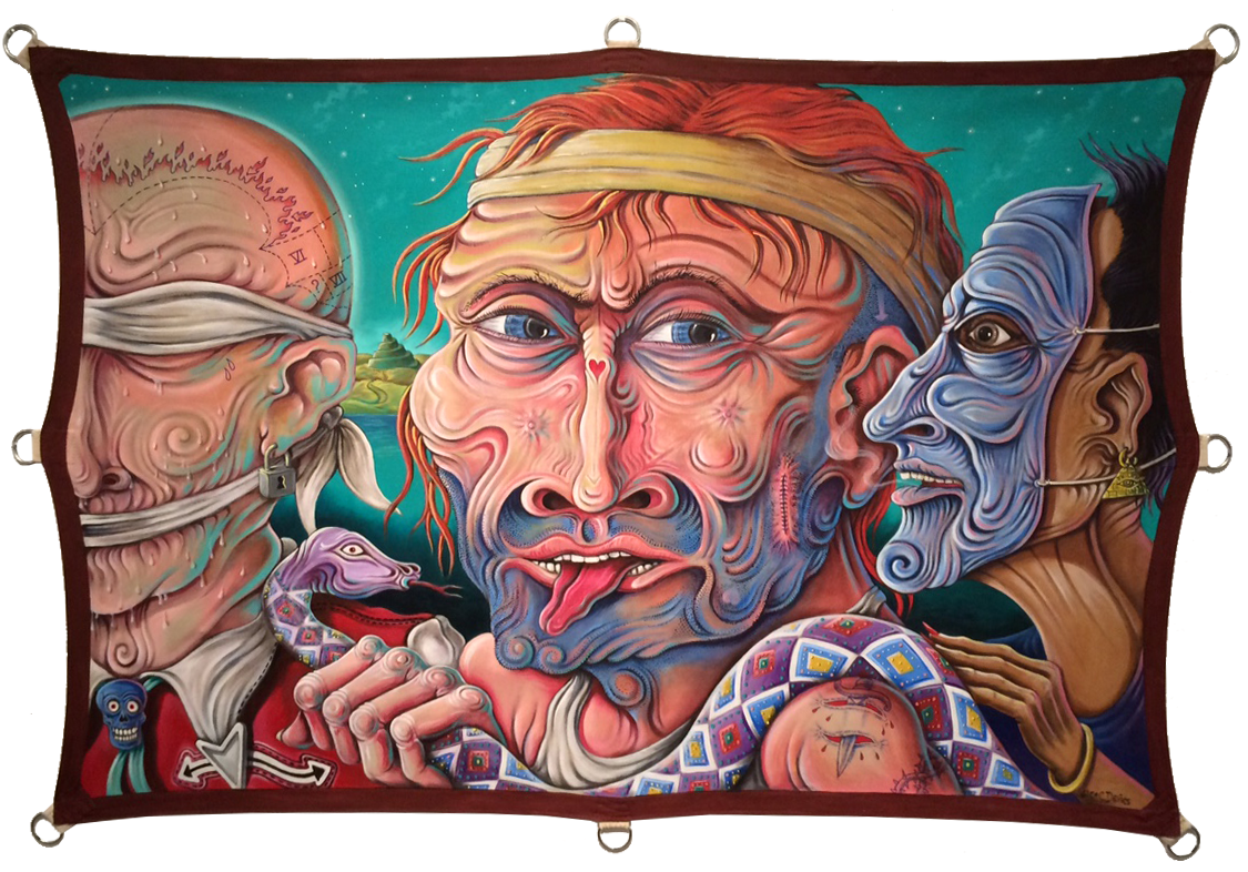 """Babel/The Lives of Words , 2015, 48""""x72"""", Acrylic on Canvas"""