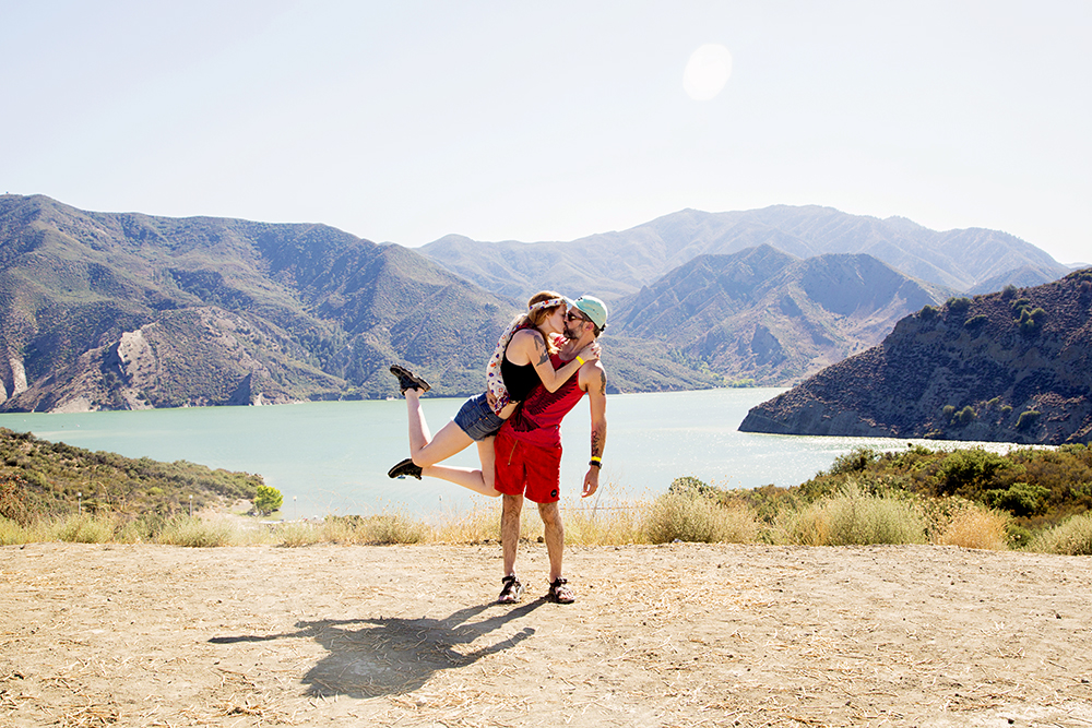 #BrinsonBanksing in the Angeles National Forest at Pyramid Lake. 8.18.2014