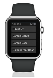 apple watch glance integration with voice control via home remote app