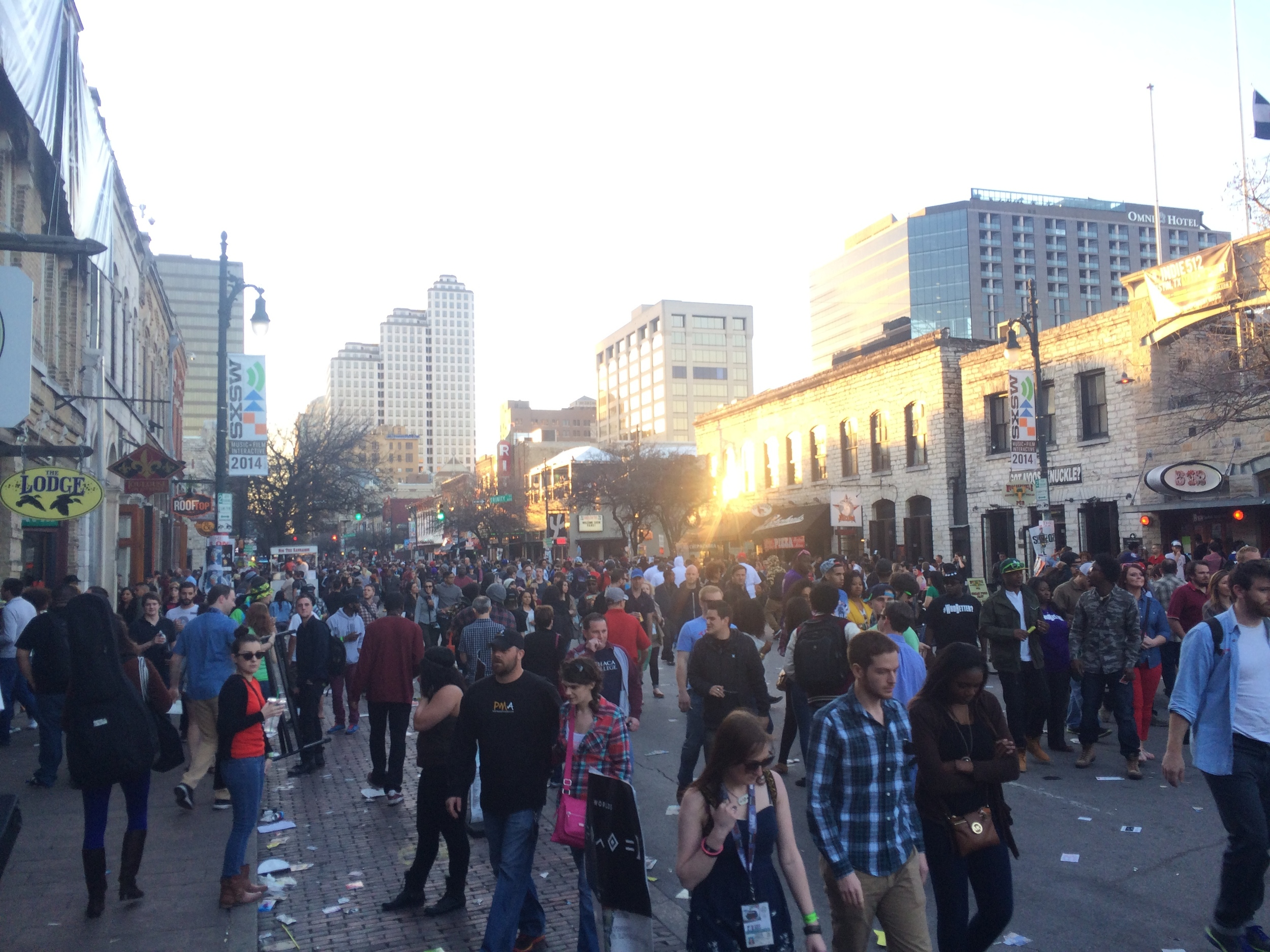 6th street before it got really crazy!