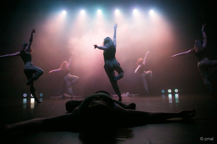Dancers amid the haze at last years End of year production for Transit dance