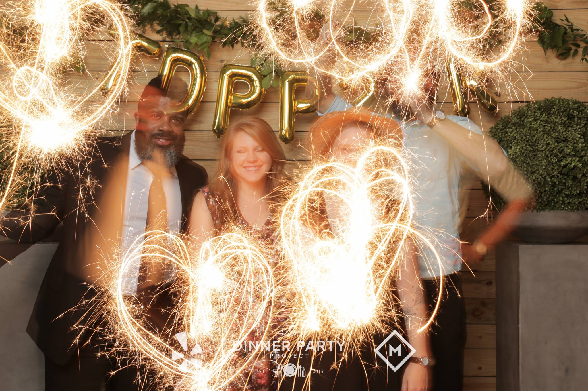 Again, don't put the sparklers between your face and the camera.
