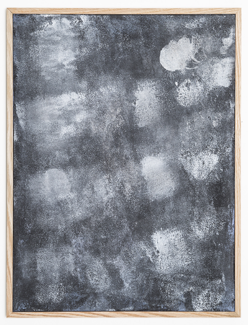 Surface 7 , 2014, heat sensitive pigment & acrylic on canvas, 18 x 22 inches.