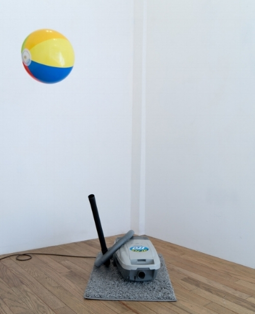 Godfrey's , 2016, vacuum, carpet, beach ball.