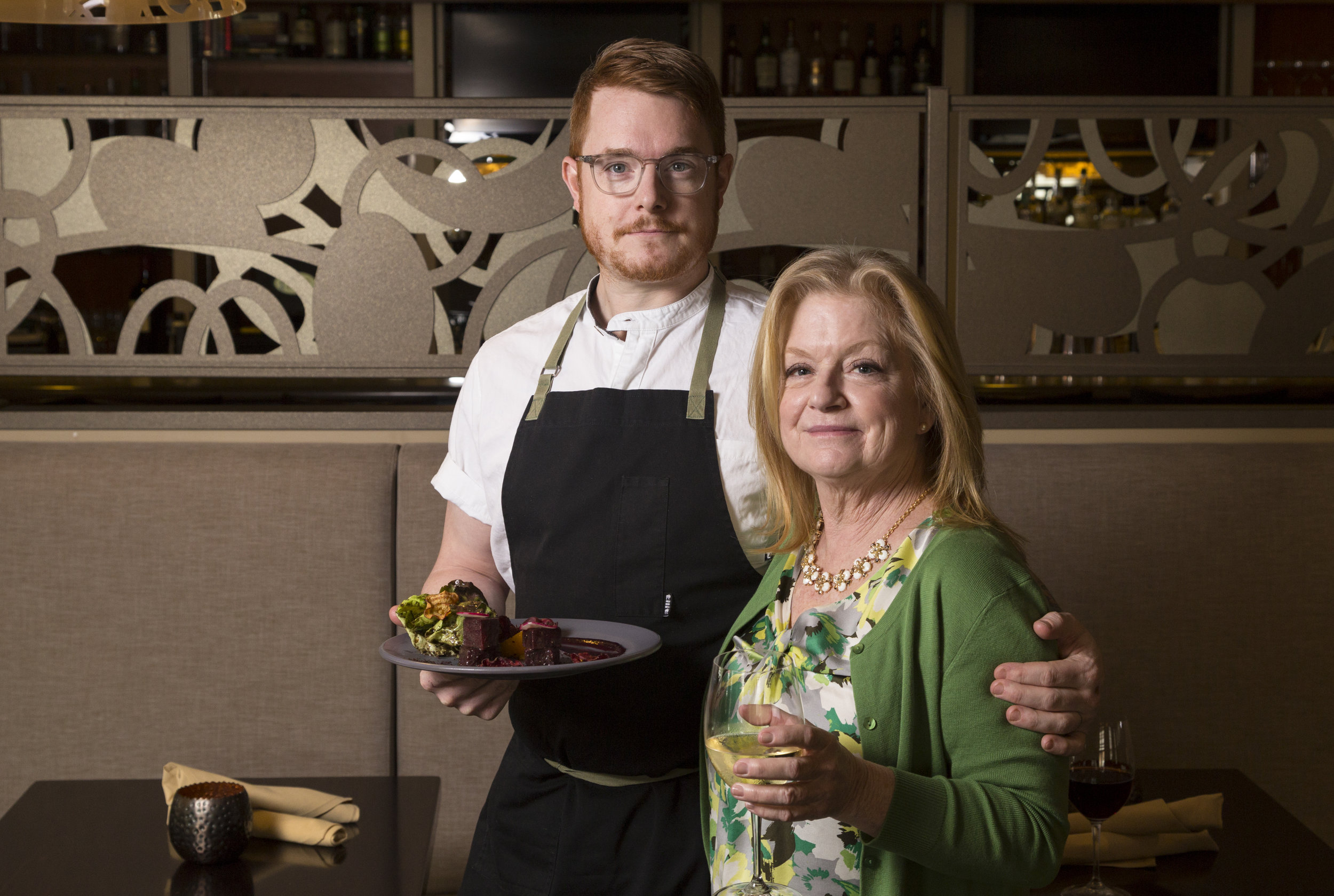Chef Aaron and his mother