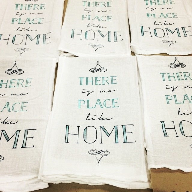 """Home"" tea towels"