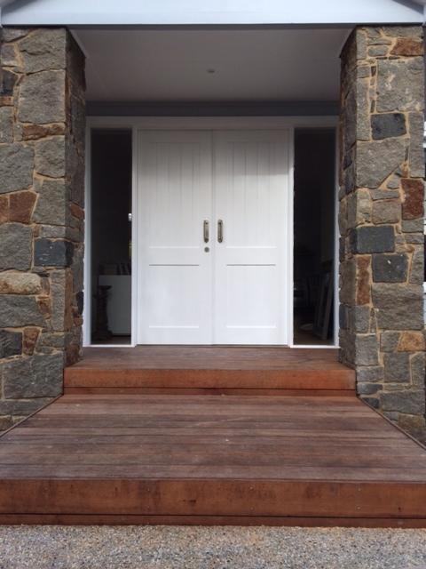 Double front door custom made for Brad.