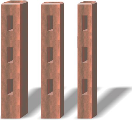 Post Sizes: 200x200mm | 200x100mm | 150x150mm