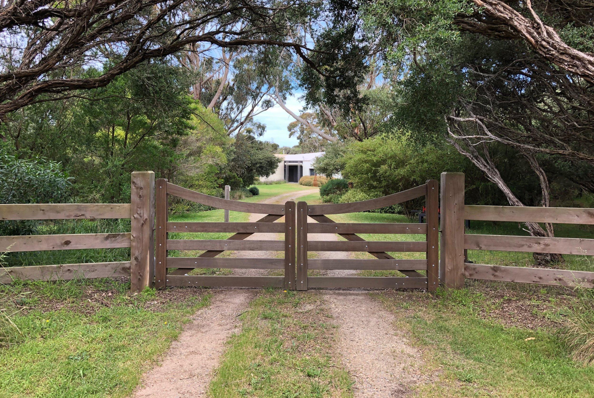 Weymouth Bolted Hardwood Gates.jpg Peninsula Timber Gates.jpg