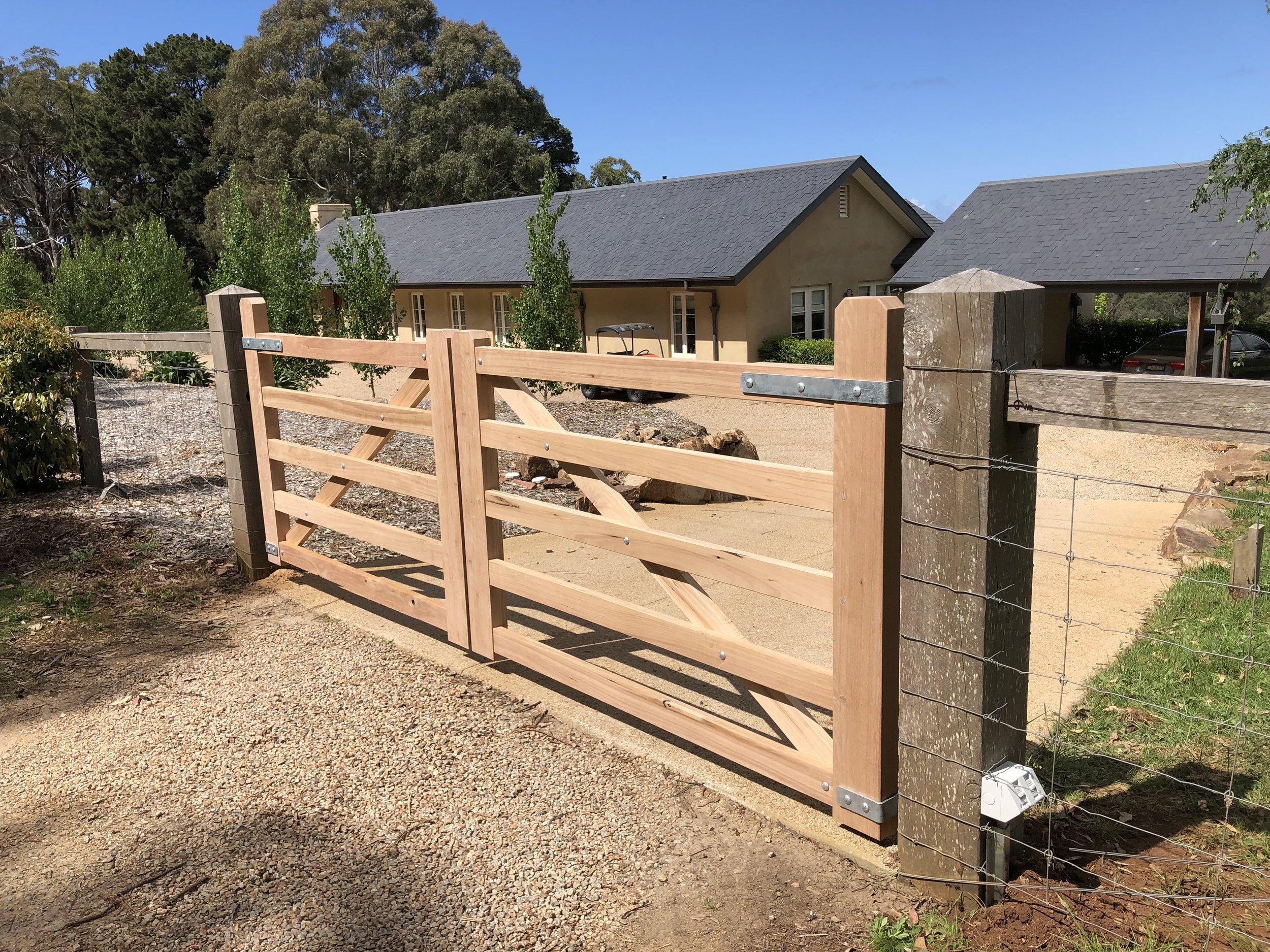 Classic 5 bar timber gates. Peninsula Timber Gates .jpg