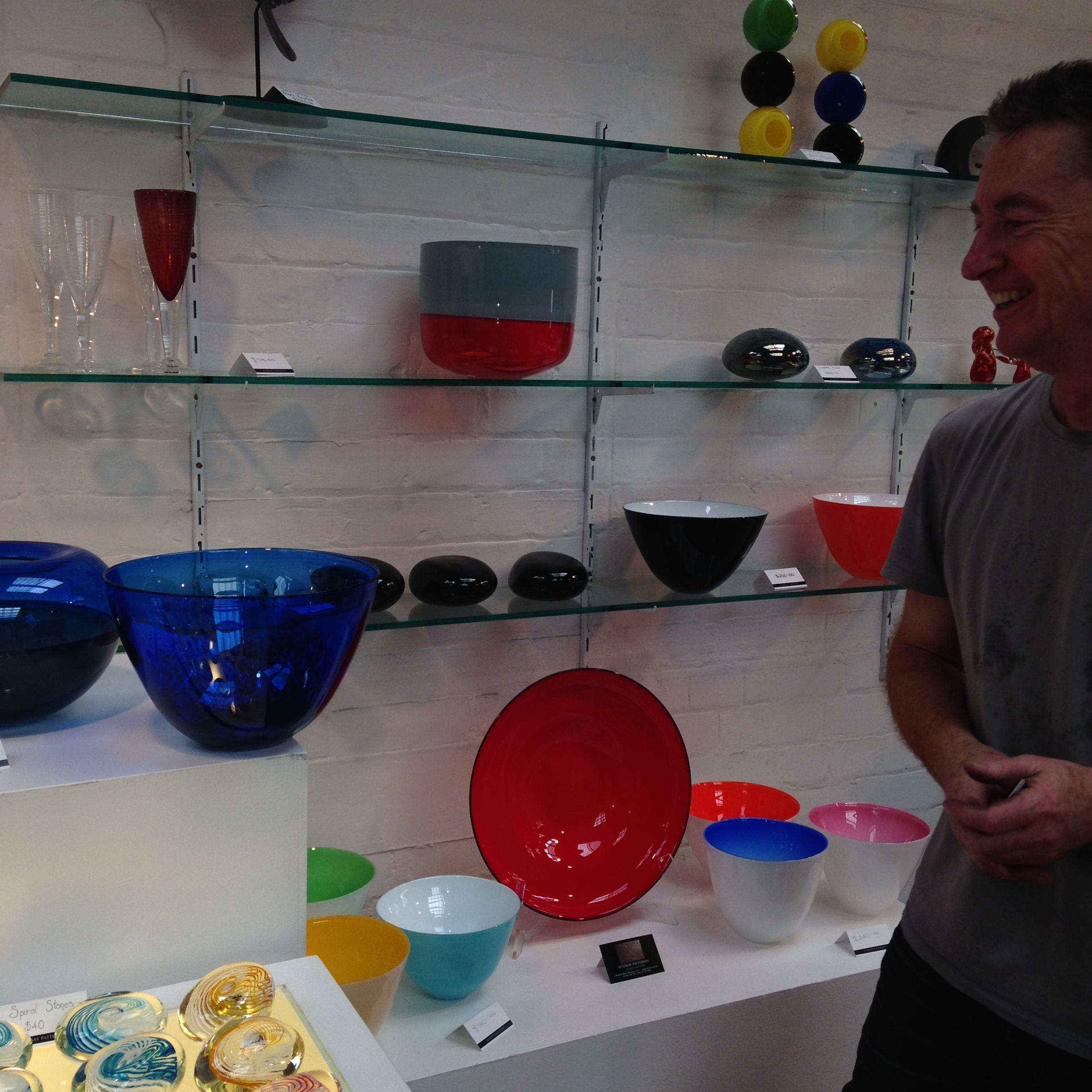 Lyndsay Patterson and some of his stunning artworks
